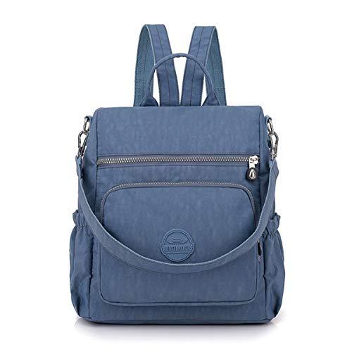 Dam nylon ryggsäck handväska, JOSEKO multifunktion skolväska ryggsäck stöldsäker vattentät axelväska messenger cross body vardaglig dagväska resväska för flickor och kvinnor