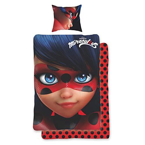 Miraculous Bettwäsche Ladybug Rot Paris Superheldin Renforcé 135 cm x 200 cm