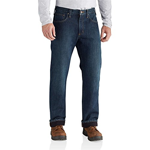 Carhartt Men's Relaxed Fit Holter Jean Fleece Lined,...
