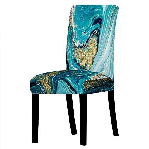 LYY Stuhlhussen Stretch Dining Chair Schonbezüge, Printed Stretch Abnehmbar Waschbar Short Dining Chair Protector Cover Sitz für Hotel, Esszimmer