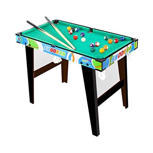 WJMLS Zusammenklappbarer Billardtisch Snooker-Tisch mit allem Zubehör, ideal für Kinder und Erwachsene (Color : A)