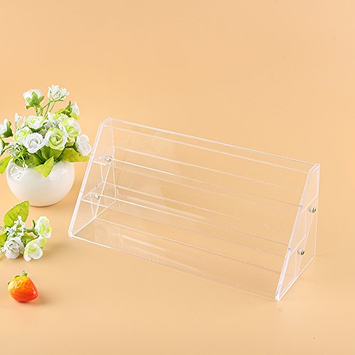 Cocoarm Nail Polish Stand, 3 Tiers Clear Acrylic Nail Varnish Holder Nail Polish Display Stand Large Makeup Storage Rack Nail Polish Rack Display for Storing Essential Oils, Perfume, Lipstick