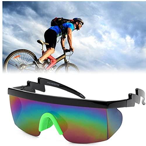 Onsinic 1pc Montar Gafas De Gafas De Espejo Medio Borde Gafas De Antideslizante Vidrio para Deportes Aire Libre
