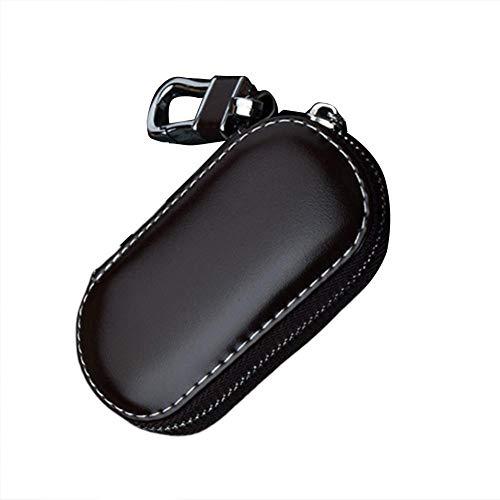 Funda Llave Coche La llave del coche de seguridad Accesso, Key caja de múltiples funciones del cuero bolsa caso Clave Clave del coche por jaula de Faraday entrada sin llave Fob de la llave de la bolsa