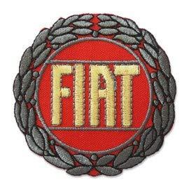 PATCHMANIA FIAT Logo 8,5 cm Aufnäher Bügelbild, Patch Embroidered Patches Iron on