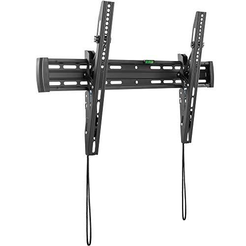RICOO N4564, Flache TV Wandhalterung Neigbar, Universal 37-70 Zoll Bildschirm-Aufhängung Curved LCD LED Fernseher-Halterung, bis 50Kg & VESA 600x400