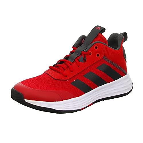 adidas OWNTHEGAME 2.0, Zapatillas Hombre, Escarl/NEGBÁS/GRISEI, 41 1/3 EU
