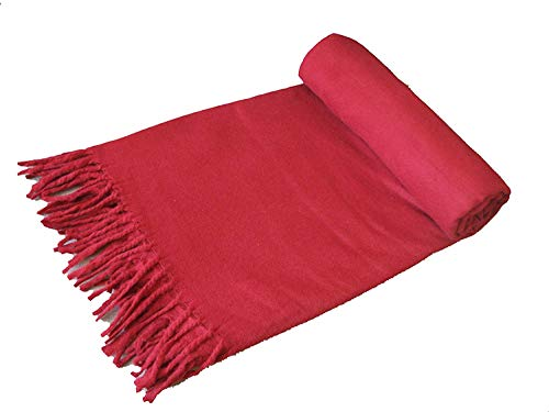Wool Meditation Shawl Tibet Monks Burgundy Red 100% From Tibet by PARIJAT HANDICRAFT | Prayer Shawl, Buddha Blanket, Oversize Scarf, or Wool Wrap to Strengthen Your Daily Meditation Practice, Unisex