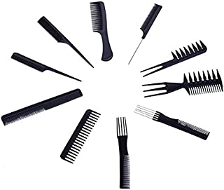 SYGA Set Of 10 Professional Hair Cutting & Styling Comb Kit