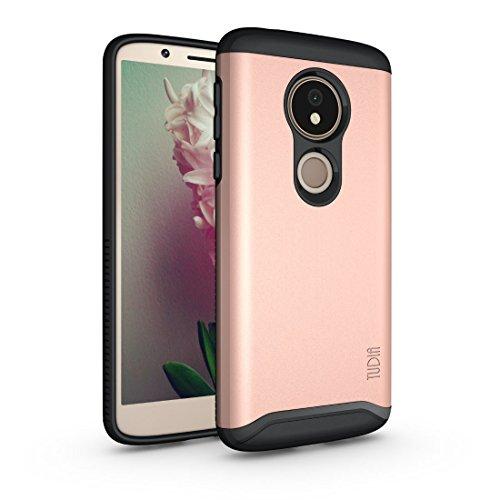 TUDIA Motorola Moto G6 Play Hülle, Slim-Fit Merge Dual Layer Schutzhülle für Motorola Moto G6 Play (Rose Gold)