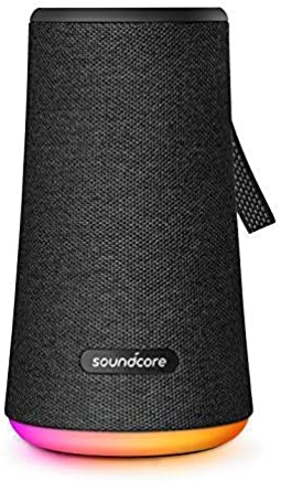 Soundcore Flare+ Portable 360° Bluetooth Speaker by Anker, Huge 360° Sound, IPX7 Waterproof, Bigger Bass, Ambient LED Light, 20-Hour Playtime, 4 Drivers with 2 Passive Radiators, Speaker for Parties