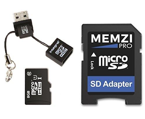 Memzi Pro 8GB Class 1090MB/s Micro-SDHC-Speicherkarte mit SD-Adapter und Micro USB-Kartenleser für toguard in Auto Dash Cam Kameras
