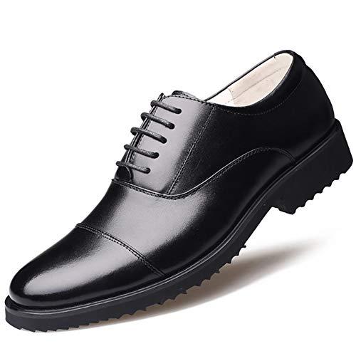 XIGUAFR Chaussure en Cuir Habillée de Costume de Travail Décontractée Homme Basse Chaussure d'Officier Militaire a Lacet Résistant à l'usure Noir 45