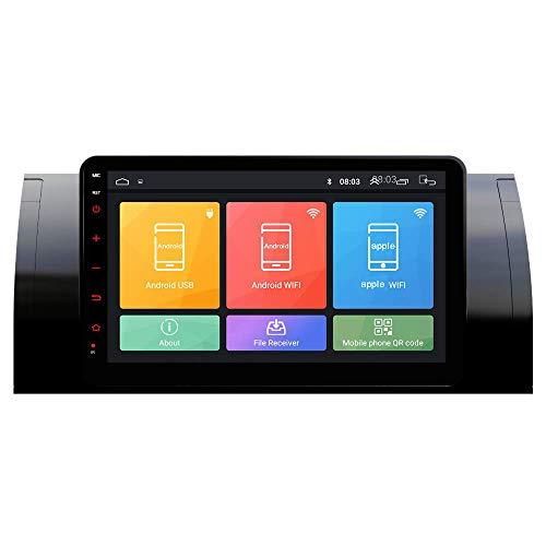 JIBO por B M W M5/E39 1995-2003 X5/E53 2000-2007 Coche Estéreo Multimedia Jugador GPS Navegación IPS 2.5D Toque Pantalla Nav Sat Apoyo Bluetooth WiFi Vídeo Receptor