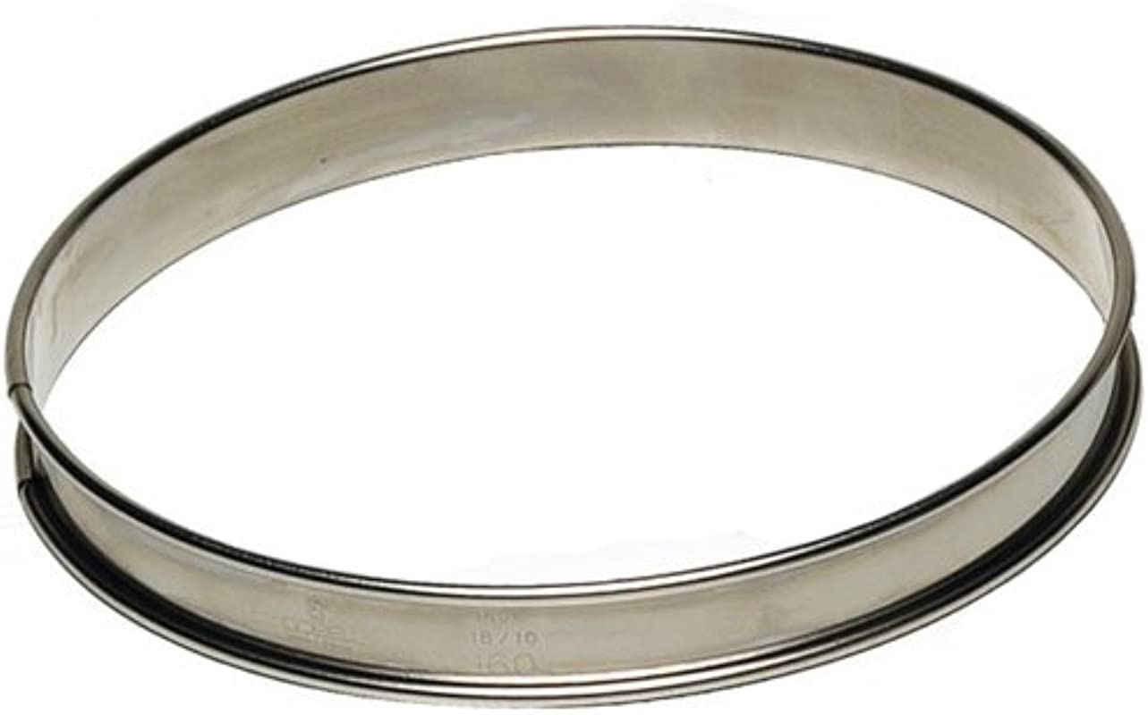 Tart Ring 3 4 High Stainless Steel 200mm 8