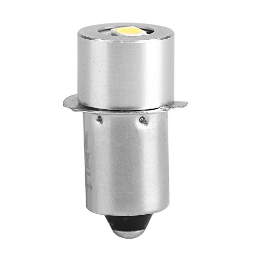GOTOTOP Lampadina per Torcia a LED 1W P13.5S, Lampadina di Ricambio per Torcia Lampada da Lavoro di Emergenza 100~110LM 2700~7000K(6V)