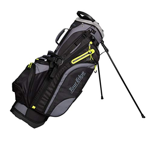 Tour Edge Unisex's UBAHNSB06 Golf-Stand-Bags, Black/Lime/Silver, One siz
