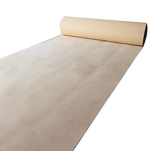 WYW Alfombras de Pasillo Corredores de Pasillo de Color Beige para Bodas, Corredores de alfombras de Polipropileno Desechables, alfombras para Fiestas Escaleras en los pasillos (4 tamaños para Elegir