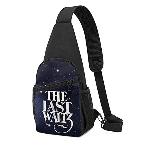 DJNGN The Last Waltz Chest Bag Hommes Femmes Sling Bag Poitrine Épaule Sac À Dos Bandoulière Sacs Noir