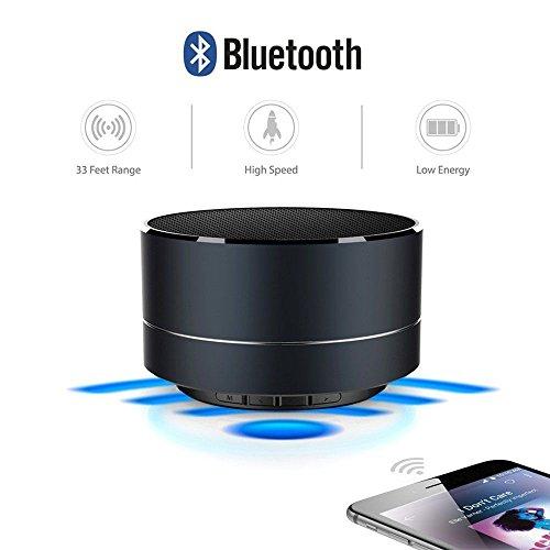 Altoparlante bluetooth REALMAX® Slot per scheda di memoria 3.5mm Porta aux Microfono per chiamate in vivavoce viaggio compatto portatile wireless supporta tutti i dispositivi e i gadget Bluetooth