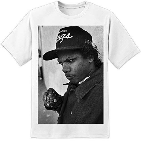 Fácil e–NWA T Shirt (S-3X L) la crónica de Dr. Dre Hip Hop Drake Snoop Dogg Blanco Blanco XL