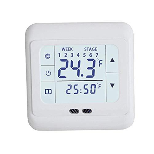 puseky Thermoregulator pantalla controlador de temperatura WiFi sistema de calefacción eléctrico para cable calentador 30A