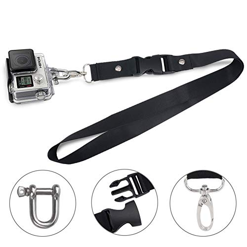 Wolven Detachable Shoulder Neck Strap w Quick Release and Lobster Clasp Compatible GoPro HD Hero 1, 2, 3, 3+, 4, 5, 6, Session 4, 5 or Most Sports Action Cameras