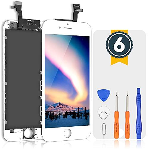 bokman Schermo Display LCD per iPhone 6 Bianca, Touch Screen Digitizer Parti di Ricambio con Strumenti di Riparazione