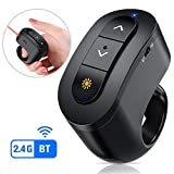 Wireless Presenter with Bluetooth, Rechargeable Presentation Remote for Keynote/PPT/Mac/PC Models, RF 2.4 GHz Presentation Clicker Remote with Bluetooth
