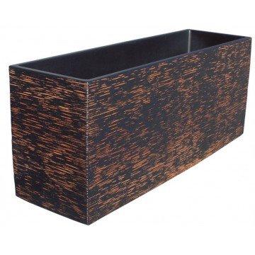 AnaParra Cubic Jardinera Exterior Rectangular Fabricado en hormigón aligerado   Macetero Decorativo de Piedra Artificial...