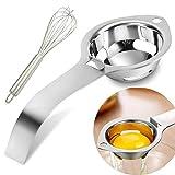 Separateur Ueuf Inox 304,Separateur Jaune Oeuf de Cuisine Lavable à Machine - Argent(Donnez-en un Fouet à œufs)