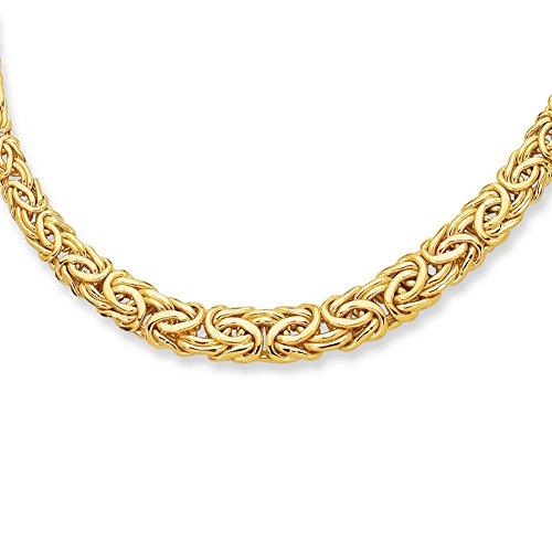 RCI 14K 17' Yellow Gold 6.0-11.0mm Graduated Byzantine Fancy Necklace with Lobster Clasp