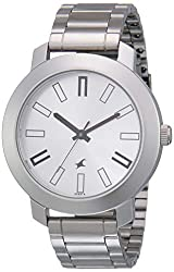 Analog Silver Dial Men's Watch -NK3120SM01