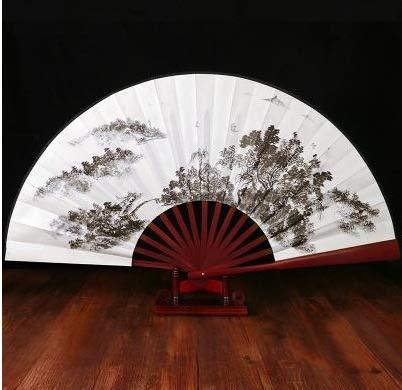 weichuang Abanico plegable de verano de seda de bambú para fiesta de baile, impresión de flores, decoración del hogar, manualidades (color: color1)