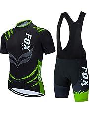 Mannen Wielertruien Set Bike Jerseys Shorts met 9D Gel Pads