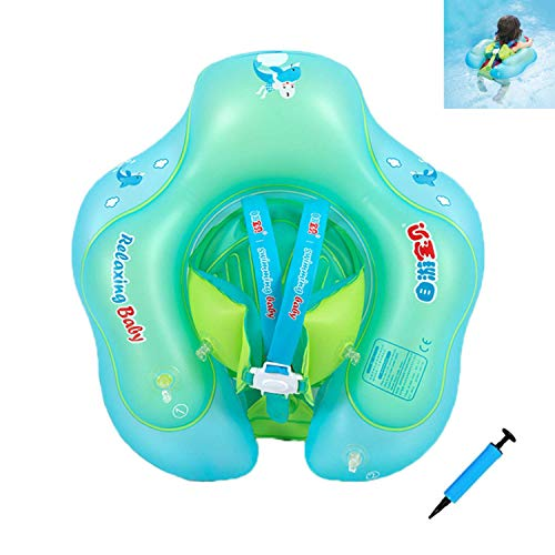 Flotador para Bebé con Asiento yanillo de Seguridad,Recién nacido Natación Flotador Anillo de Natación,Bebé Juguetes de Piscina Inflable de Piscina Nadar Anillo para (Niños de 2-6 años (Estilo A), XL)