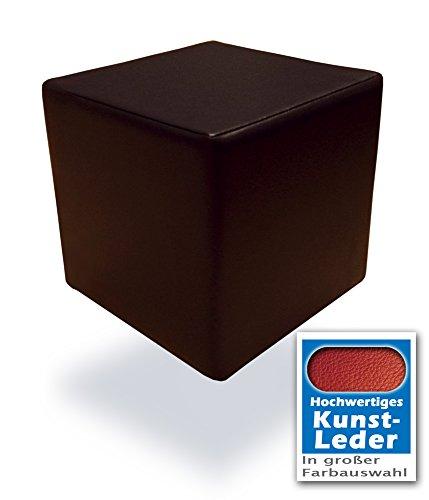 Spielpolster Schaumstoff Würfel in Braun mit hochwertigem Kunstlederbezug und Qualitätsschaumstoff 40 x 40 x 40 cm. Kinder Spielspaß, Sitzhocker, Sitzwürfel, Schaumstoffwürfel. (Braun)