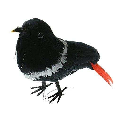 Amuzocity Pájaro Artificial Emplumado Gorrión Realista árbol de La Decoración Del árbol en El Hogar - 15, tal como se describe