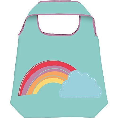 Moses Shopper Rainbow | Faltbare Einkaufstasche | umweltfreundlich, wiederverwendbar, Polyester, mintgrün, One Size
