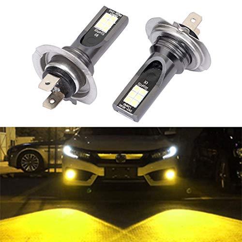 JIANGHONGYAN Accesorios Exteriores para automóviles 2 PCS H7 DC12V-24V / 12W / 3000K / 800LM 12LEDS SMD-3030 Coche LED luz de Niebla