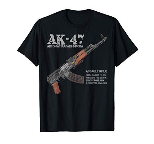 Schema in sezione del fucile d'assalto AK-47 russo AK Maglietta