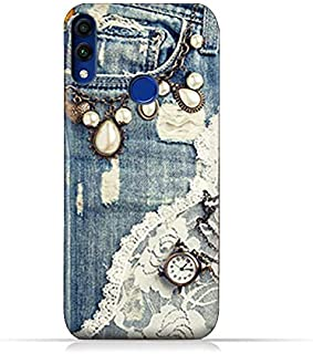 AMC Design Honor 8C TPU Protective Case with Modern Jeans Pattern