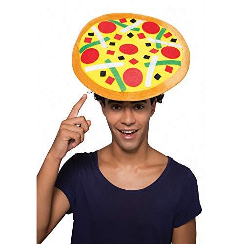 YT Electric Erwachsene Italienische Pizza Hut Mütze Kopfbedeckung Zubehör Fasching Karneval Weihnachten Kostüm Halloween Party