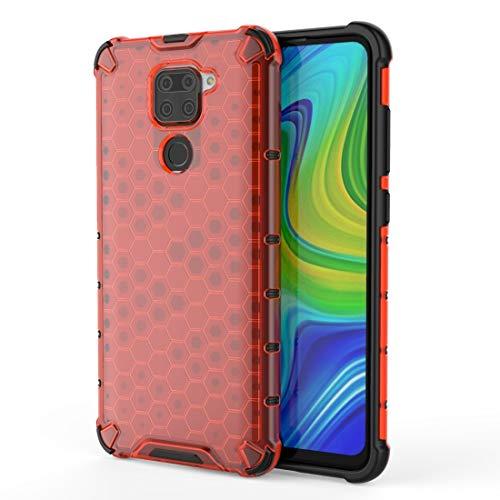 Liluyao Funda telefónica para Xiaomi For Xiaomi redmi Nota 9 a Prueba de Golpes de Nido de Abeja PC Caso Protector de TPU (Color : Red)
