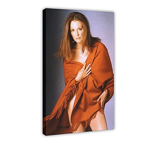 American Film And Television Attrice Julianne Moore 12 Poster Tela Camera Da Letto Decor Sport Paesaggio Ufficio Camera Decor Regalo 20 × 30 cm Frame-style1