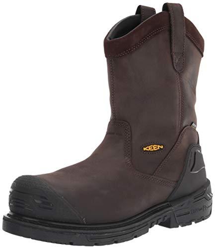 KEEN Utility Men's CSA Philadelphia Wellington High Composite Toe Waterproof Puncture Resistant Pull On Work Boot, Cascade Brown/Black, 9.5 Wide US