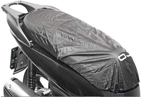 Funda de sillín M092 Talla L Impermeable OJ Compatible con Aprilia Area 51 SBK Scooter Moto Cubierta sillín Negro