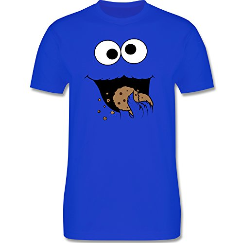 Shirtracer Keks-Monster Unisex Shirt Damen und T-Shirt Herren (XL, Royalblau)