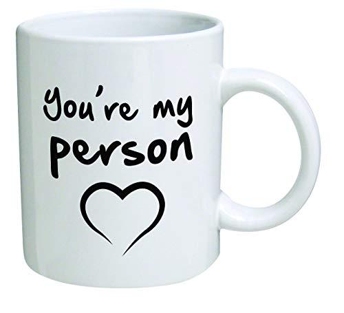 Jopath Funny You're my person - Taza de café de 308 ml, diseño de corazón