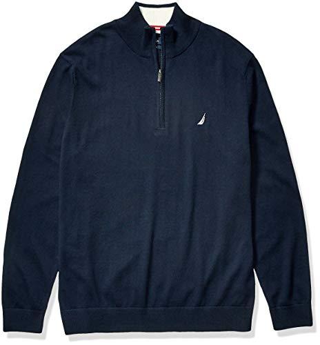 Nautica Men's Tall Navtech Quarter-Zip Sweater, Navy, 5X Big